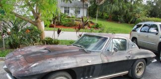 Corvettes on eBay: 1965 Barn Find Corvette Has Been Parked Since 1977