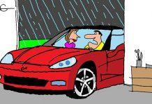 Saturday Morning Corvette Comic: Driving in the Rain