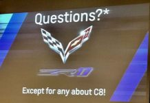 [PIC] Slide Refers to C8 at Corvette Racing Dinner