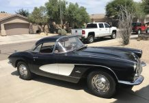 Corvettes on eBay: Lightly Customized 1961 Corvette Barn Find with Two Tops