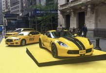 [PIC] Hertz Shows Off New Corvette Z06 Rental on Wall Street