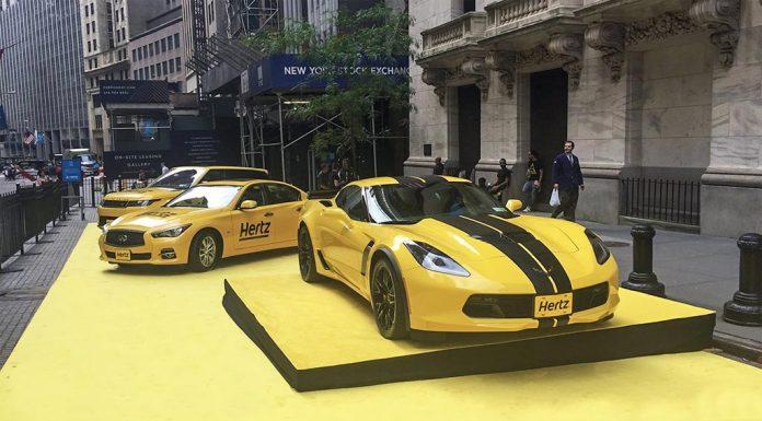 [PIC] Hertz Shows Off New Corvette Z06 Rental on Wall Street