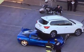 [ACCIDENT] C6 Corvette is One of Five Cars Damaged in Oakland Police Chase