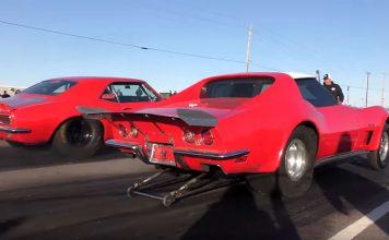 [VIDEO] Corvette vs Camaro on the Streets of Wagoner, Oklahoma