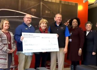 [VIDEO] Corvette Assembly Plant Makes Donations to Local Service Groups