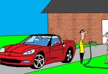 Saturday Morning Corvette Comic: Just a Quick Rinse Down Before a Cruise