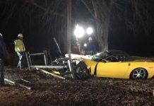 [ACCIDENT] Driver Flees After Crashing a 2009 Corvette into a Gas Main in Kentucky
