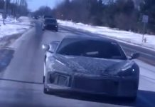[SPIED] C8 Mid-Engine Corvette Prototype Driving on Snowy Roads