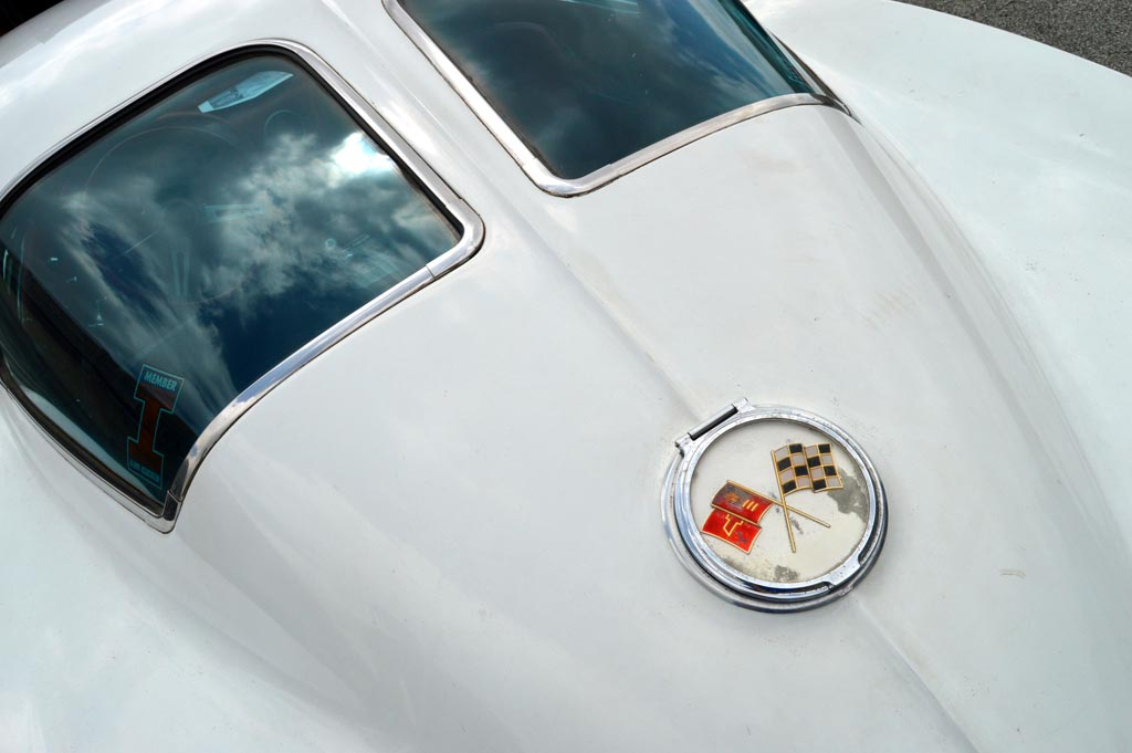 Chevrolet Corvette Metal Sign Parts Sales Sting Ray Split Window Vintage Style