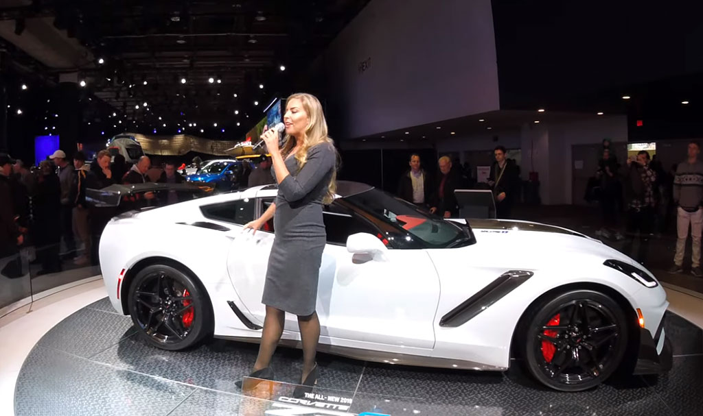 [VIDEO] Chevy Girl Presents the 2019 Corvette ZR1 at NAIAS ...