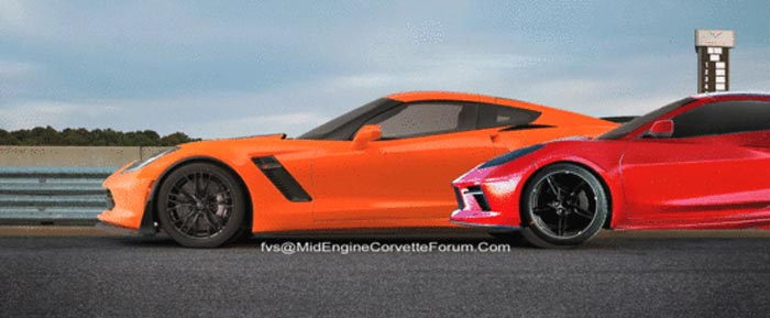 How Does the C8 Mid-Engine Corvette's Size Compare to the C7 Corvette?