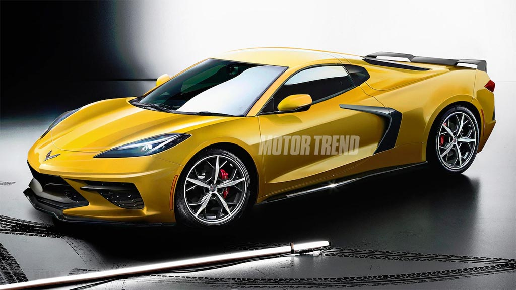 Motor Trend Shares a Rendered C8 Corvette for its Feature ...