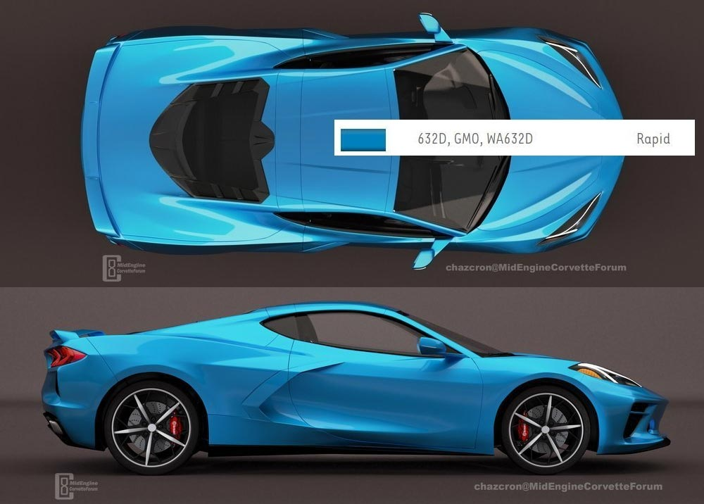 Was The New Rapid Blue Exterior For The 2020 Corvette Leaked