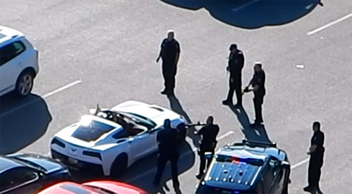 [VIDEO] Cops Called After Man Climbs Into a Corvette Stingray and Refuses to Get Out