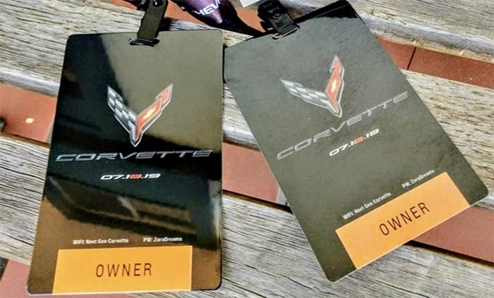 [PICS] Corvette Enthusiasts Begin Receiving Their C8 Corvette Reveal Event Passes