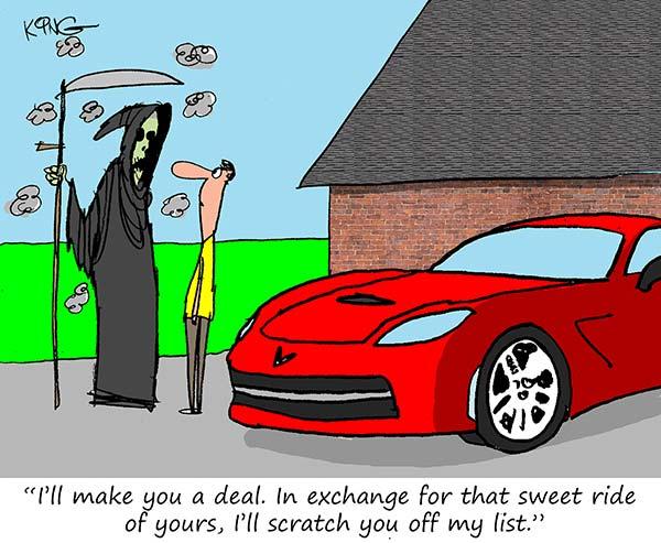 Saturday Morning Corvette Comic: When the Grim Reaper Comes For You