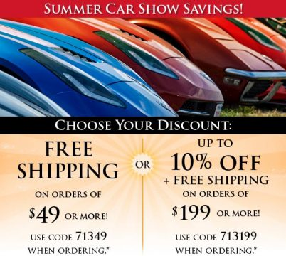 Top Flight Automotive Allows You To Choose Your Discount for Corvette Parts and Accessories