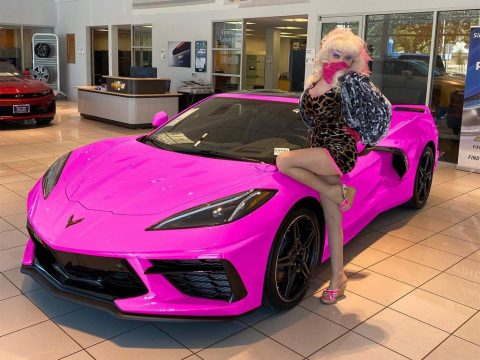 [PICS] The Real Deal? Angelyne's Pink C8 Corvette Breaks Cover