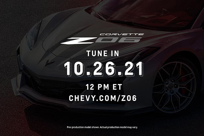 Chevrolet Releases Details for Watching the Reveal of the 2023 Corvette Z06