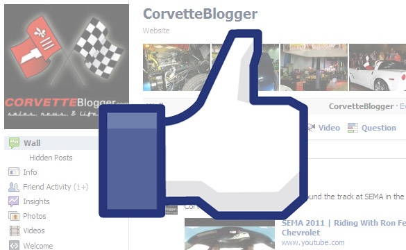 Become a Fan of CorvetteBlogger.com's Facebook Page
